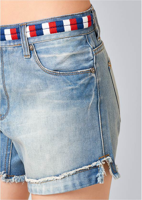 Alternate View Waistband Detail Shorts