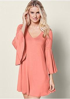 peasant sleeve dress