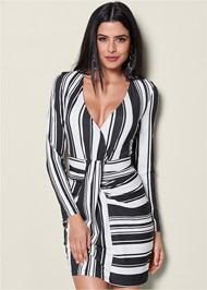 Front view Stripe Bodycon Dress