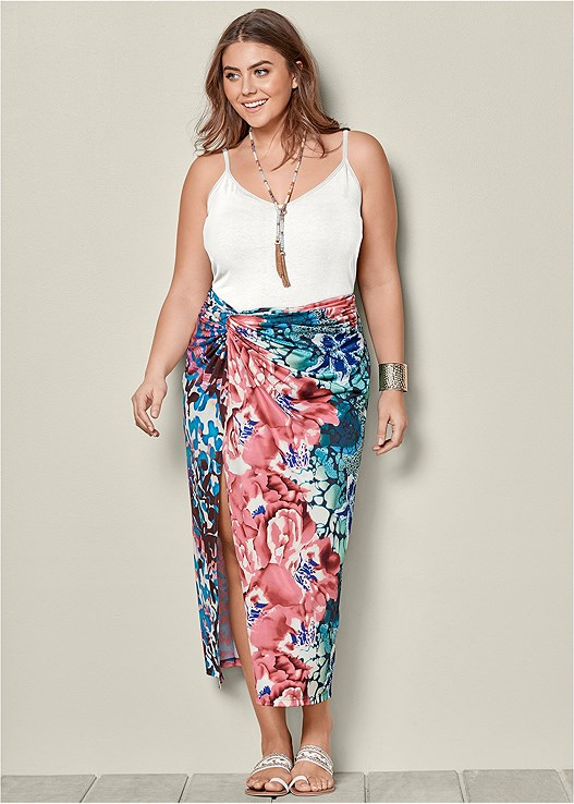 FLORAL KNOT FRONT MAXI