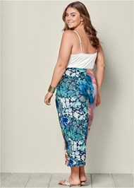 Back view Floral Knot Front Maxi