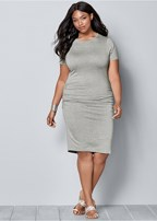 plus size basic high neck dress