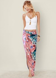 FRONT VIEW Floral Knot Front Maxi