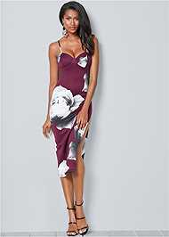 Front View High Slit Bodycon Dress