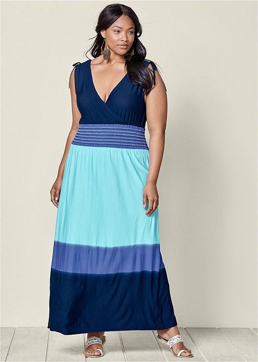 Plus Size Ombre Maxi Dress Venus