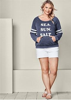plus size sea sun salt sweatshirt