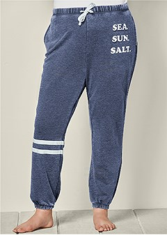plus size sea sun salt sweatpants