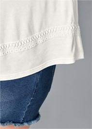 Alternate view Cold Shoulder Lace Trim Top