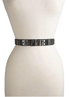 rhinestone tie detail belt