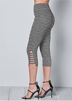 8f703735721 animal print lace pants.  39. QUICK VIEW. slit detail capris