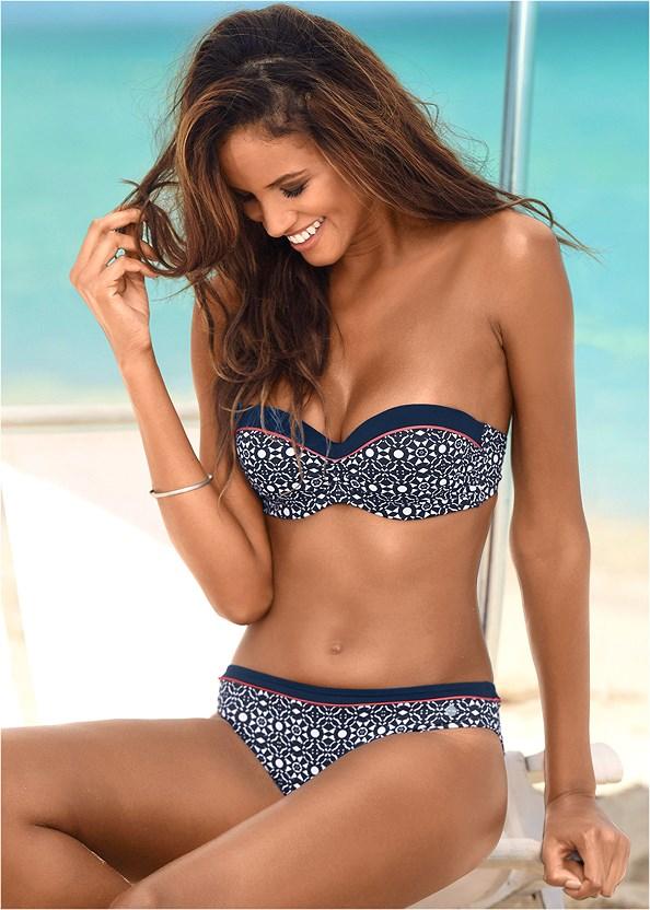Mid Rise Bikini Bottom,Bandeau Bikini Top,Tank Blouson Tankini,Triangle String Bikini Top