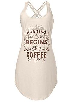plus size lace back sleep dress