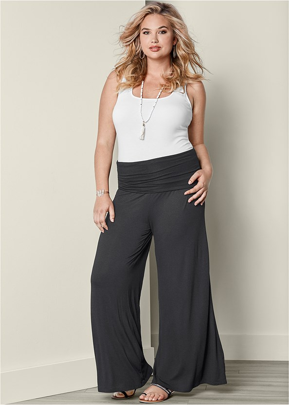 Easy Foldover Pants,Square Neck Tank Top
