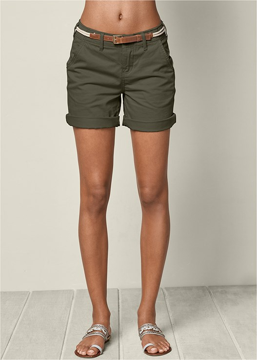 BELTED CUFFED SHORTS
