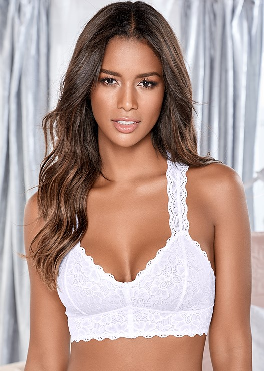 NATURAL BEAUTY BRALETTE,LACE THONG 3 FOR $19