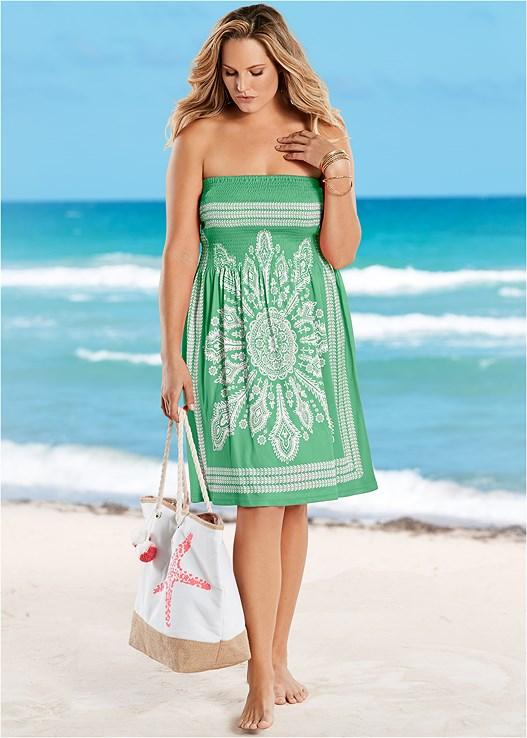 Plus Size Bandeau Dress Cover Up Venus