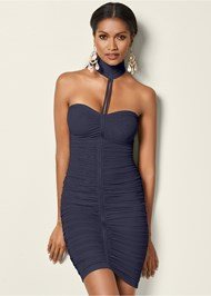 Front view Neck Detail Bodycon Dress