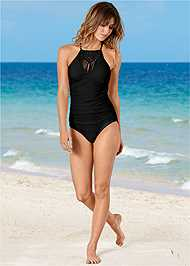 Front view Macrame One-Piece