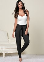 pleated front lounge pant