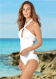Front view Keyhole One-Piece