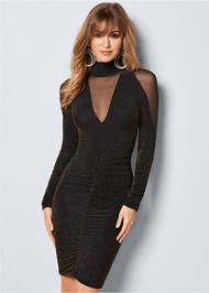Front View Glitter Bodycon Dress