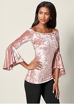 velvet trumpet sleeve top