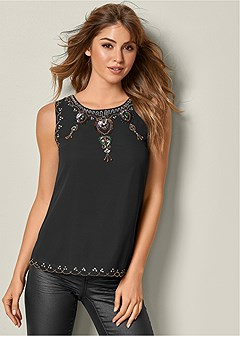 sequin detail blouse