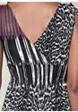 Alternate view Sleeveless Printed Surplice Dress