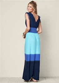 Back view Ombre Maxi Dress