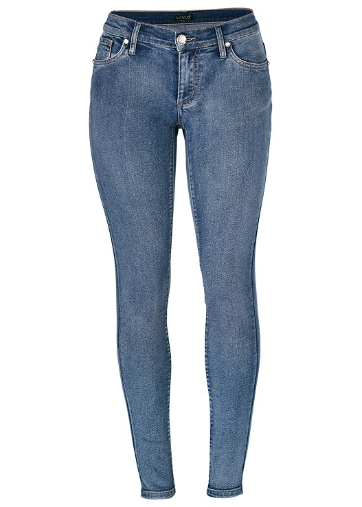 277b49d9352 Plus Size COLOR SKINNY JEANS in Medium Wash