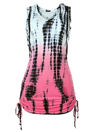 Alternate View Hooded Tie Dye Tunic Top