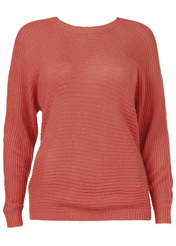 Alternate View Button Back Detail Sweater
