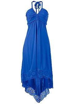 plus size high low halter dress