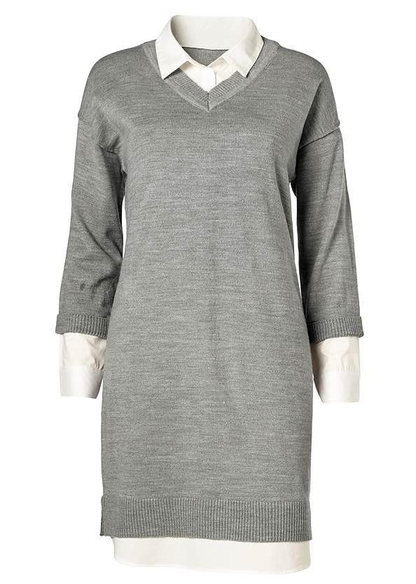 Alternate view Collar Sweater Twofer Dress