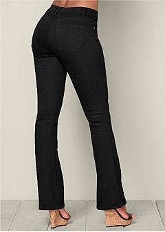 bum lifter boot cut jeans