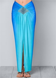 Front View Ombre Embellished Skirt