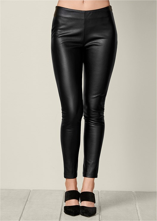FAUX LEATHER LEGGINGS in Black  cc26d3309