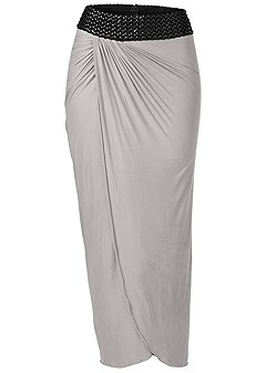 plus size braided waistband maxi
