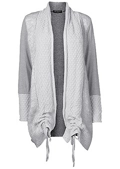 plus size cozy long cardigan
