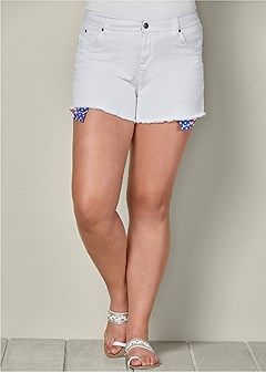 plus size american flag cut off short