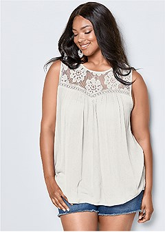 24965dcf9d1 plus size lace detail top