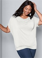 plus size basic flounce top