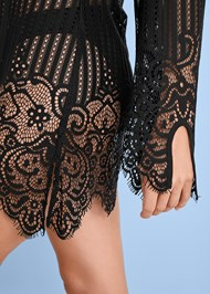 Alternate view Lace Up Crochet Cover-Up