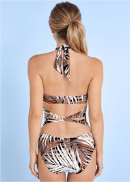 BACK VIEW Keyhole One-Piece