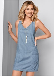 Front view Chambray Mini Dress
