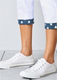 Alternate view Star Cuff Capri Jeans