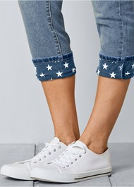 Alternate view Star Cuff Capri Jeans