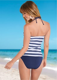Back view Bandeau Tankini Top