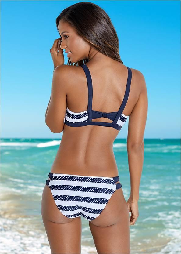 Back View High Neck Zip Up Bikini Top