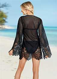 Back View Lace Up Crochet Cover-Up